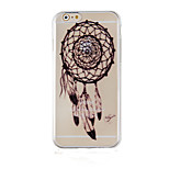 Dreamcatcher Black Pattern Transparent Phone Case Back Cover Case for iPhone6/6S
