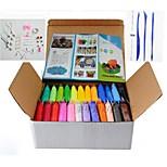 24 pcs/Set DIY Warna-Warni Konyol Dempul Plastisin Anak  Untuk Fimo Polimer Tanah Liat