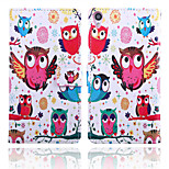 Bird Pattern Card Stand Leather Case for Sony Xperia Z3/Z4/E3/E4/T3