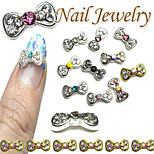 10pcs  Nail Bow Diamond Nail Jewelry