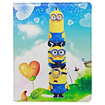 Comedy Small Yellow People Pattern PU Leather Case with Stand and Card Slot for iPad Air/iPad 5