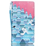 HZBYC®Forest Snowman Pattern PU Material Card Lanyard Case for Huawei P8 Lite