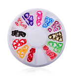1Pcs Manicure Love Jewelry Jewelry Soft Pottery Turntable 12 Heart-Shaped Lattice Disc Ornament
