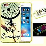 2-em-1 nunca parar de sonhar padrão TPU tampa traseira com amortecedor pc soft case à prova de choque para iphone 6 / 6s