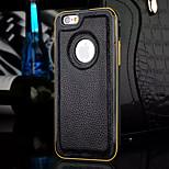 neue Luxus-Leder-Zeichnung Litschi-Muster-Rahmen und Backplane-Telefonkasten für iphone 5 / 5s (verschiedene Farben)