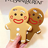 Christmas Gingerbread Cartoon Man Style Silicone Back Case For iPhone 6/6S (Assorted color)