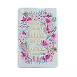Flower Painted TPU Tablet computer case for ipad mini1/2/3