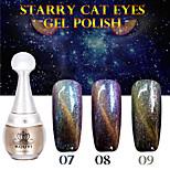 1pcs Kouyi estrellado ojos de gato del gel del color 12colors 12ml duradero esmalte de uñas 07.09