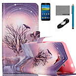 COCO FUN® Branch Antelope  Pattern PU Leather Case with V8 USB Cable Flim and Stylus for Samsung Galaxy Grand Prime G530
