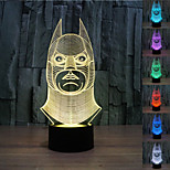 Visual 3D Batman Model Mood Atmosphere LED Decoration USB Table Lamp Colorful Gift Night Light