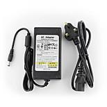 YanSe® 12V5A CCTV System Power Adapter + AC 100~240V 50/60Hz Input to DC 12V 5000mA Output (EU/AU/UK/US Standard) LED