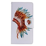 Feathers Hat Painted PU Phone Case for Huawei P8 Lite/P8