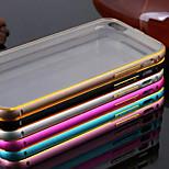 caso nova estrutura metálica chapeamento de luxo transparente discrição telefone backplane para iPhone 5 / 5s (cores sortidas)
