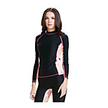 Women Sunscreen Jellyfish Scuba Snorkeling Swimwear Clothing Tops (Pants not Included)