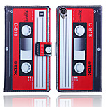 Tape Pattern Card Stand Leather Case for Sony Xperia Z3/Z4/E3/E4/T3