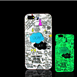 Cartoon Pattern Glow in the Dark Hard Plastic Back Cover for iPhone 5 for iPhone 5s Case