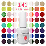 1 Piece Lundle Soak Off UV Nail Gel Polish 141 Color Gel Base Top Coat Gel LED Manicure Gel