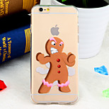 Chirstmas Gingerbread Man Fighting Pattern TPU Soft Back Cover for iPhone 6/6S