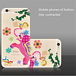 The New Creative Elephant Picking Apples Pattern  TPU Material Phone Case for iPhone 6/6S