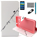 COCO FUN® Stop Dream Pattern PU Leather Case with V8 USB Cable, Flim and Stylus for Samsung Galaxy Grand Prime G530