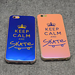 Stylish Keep Calm and Skate On Blue Light Reflective Blu-ray Soft TPU Case Cover for iphone 5/5s