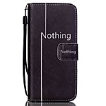 The New Nothing Pattern PU Leather Material Flip Card Cell Phone Case for iPhone 6 /6S