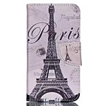 Iron Tower Painted PU Phone Case for Wiko Lenny 2