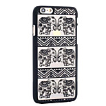 The New Matte Embossed Pattern Printing Elephant Transparent PC Material Phone Case  for iPhone 6 / 6S (Assorted Colors)
