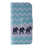 Black Elephant Painted PU Phone Case for iphone5C