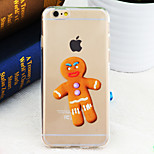 Chirstmas Gingerbread Man Cookies Pattern TPU Soft Back Cover for iPhone 6/6S