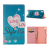 Love Pattern Card Stand Leather Case for Sony Xperia Z3/Z4