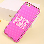 LOVE Pattern Plating TPU Phone Case for iPhone 5/5S