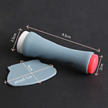 1Pcs  Coloured Drawing Or Pattern Printing Tools Double Seal A Side Scraper  White Red Gray Two-Piece Scraper +Stamp
