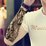 Black And White Impermanence  Waterproof Flower Arm Temporary Tattoos Stickers Non Toxic Glitter