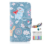 The New Love Cats Pattern PU Material Phone Case  and Dust Plug Stylus Pen for  Samsung Galaxy Note 3/4/5