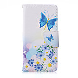 Blue Butterfly Painted PU Phone Case for Sony Xperia Z5