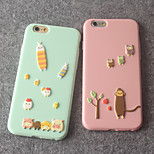 Animal Tree Sugar Candy Color Soft TPU Case for iPhone 6/6s