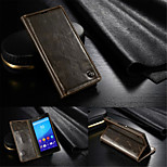 CaseMe Luxury Genuine Leather Wallet Card Slot Cover Flip Case With Stand For Sony Xperia Z3/Z4 (Assorted Colors)
