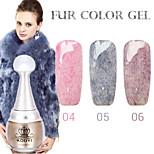 1PCS KOUYI Fur Color Gel 12Colors Long Lasting Nail Polish 4-6