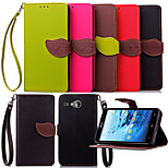 KARZEA™ Leaf Snap PU Full Body Case with TPU Back Cover Stand for Acer Liquid z520 m520(Assorted Colors)