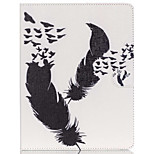 Feather Pattern PU Leather Case with Stand and Card Holder for iPad Air