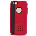 dura cubierta de armadura delgada del teléfono móvil de los casos para iphone 6 más (color clasificado)