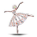 Korean Version Of The New Ballet Girl Pearl Brooch