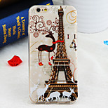 motif tour de Paris de cerfs TPU couverture souple pour iPhone 6 / 6s