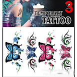 Temporary Tattoos Stickers Non Toxic Glitter Waterproof Multicolored Glitter 1 Package 17*16CM