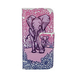 Elephant Pattern Card Stand Leather Case for iPhone 6/6S
