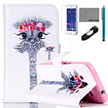 COCO FUN® Garland Giraffe Pattern PU Leather Case with V8 USB Cable, Flim and Stylus for Samsung Galaxy Core Prime G360