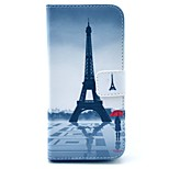 Eiffel Tower and Girl PU Leather Stand Case Cover with Card Slot for iPhone 6/6S 4.7 Inch