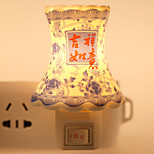 Classic Design Porcelain-shaped Ceramic Lamp Night Light Bedside Lamp with Good Moral for Festival Gift