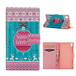 Season Pattern Card Stand Leather Case for Sony Xperia Z3/Z4